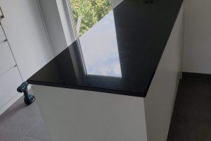 Kuhinjska radna ploča crni granit jet black