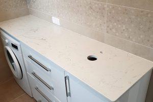 Kupatilska ploča od kvarca bela ploča za kuhinju