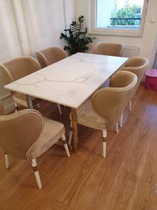 Luksuzni unikatni trpezarijski stolovi mermeri i graniti Ilić