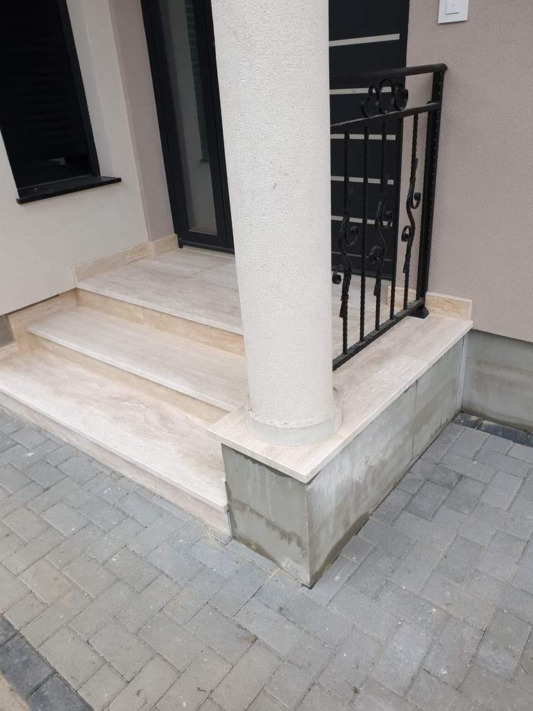Oblaganje stepenica travertin kamen