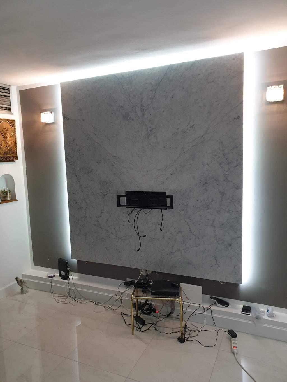 oblaganje zida mermerom carrara i led rasveta