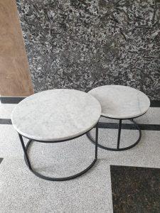 orkugli klub stolovi od mermera